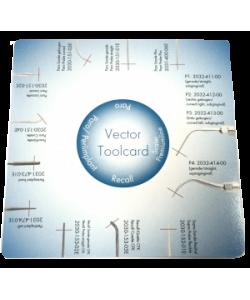 ToolCard Шаблон для определения длины насадок Vector